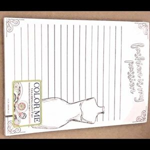 New Color Me Magnetic Coloring List Pad Fashion
